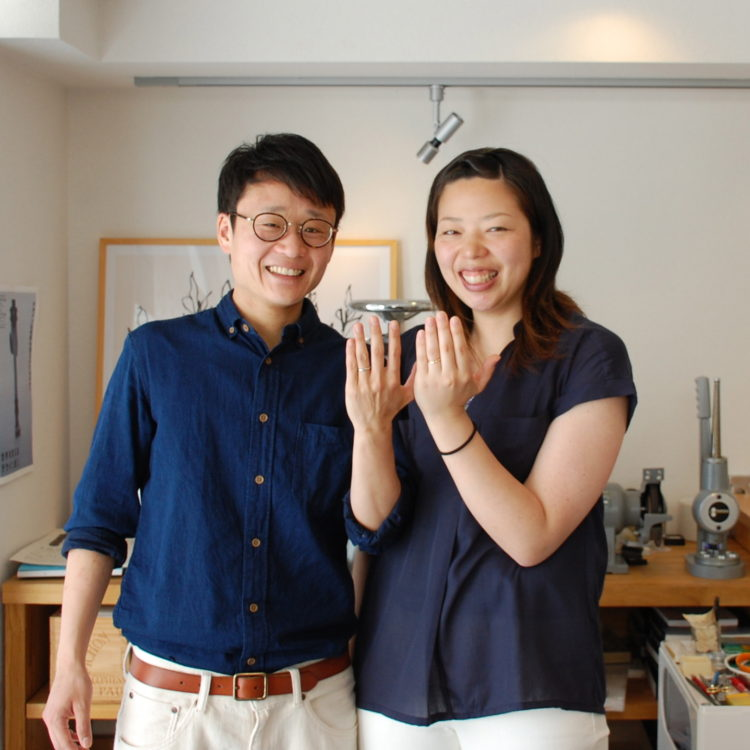 指輪作り – Kさん&Yさん